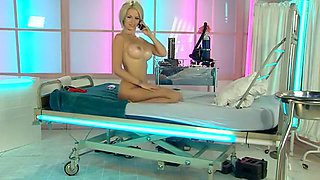 Rachel as Nurse with Oiled Breasts