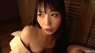 Japanese slave girl fucked after rimming her master