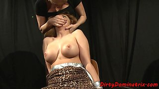 Busty milf dominates her submissive