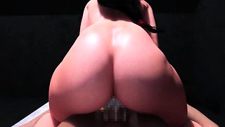 Busty animated chick gets pussy fucked