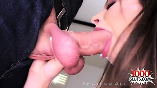 Big tits amateur pov and swallow