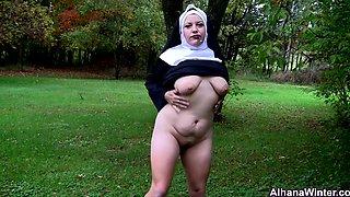 Smoking Outdoors Nun - ALHANA WINTER - Sunday Blasphemy Special