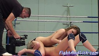 orally licked beauties love wrestling