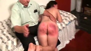 A submissive mature is spanked as welcome by Old Master (Part 3)