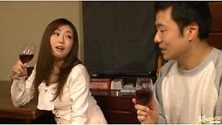 Sexy and Busty Japanese Babe Gets Fucked Hard By Her Dinner Date