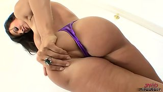 hot bikini chick solo with toy