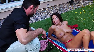 anissa kate's massive rack attracts a handsome neighbor