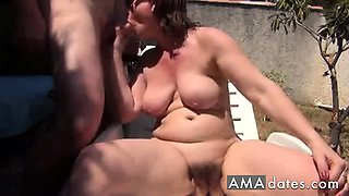 Amateur Couple in the Garden