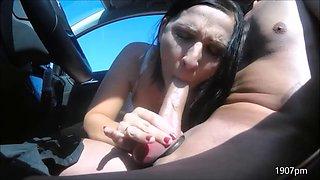 German MILF Dogging Car Sex Public Creampie