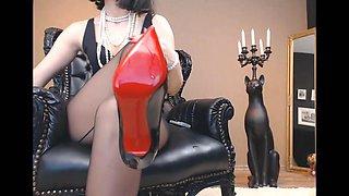 Mistress Heels JOI and Dildo suck instructions