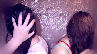 ASMR Combing hair Shampoo Brushing Two Sisters