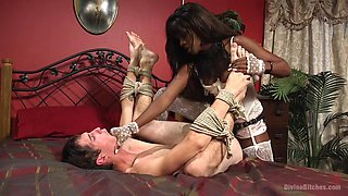 Tony Orlando & Ana Foxxx in On Your Knees It's The Debut Of Mistress Ana Foxx - DivineBitches