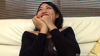 Saionji Reo gets her nylons ripped and her pussy abused