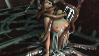 3D Terrifying Tentacles Destroy Babes!