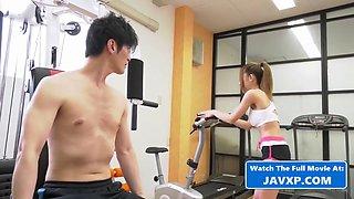 Asian teen at the gym, japanese jav