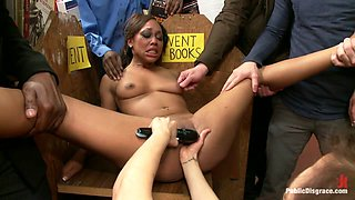 Adorable 19 Year Old Is Bound And Ass Fucked In Public - PublicDisgrace