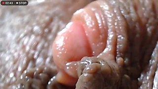 close up big clit play