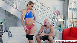 Bald headed stud J Mac fucks sex-appeal bitchy chick Sami St Clair
