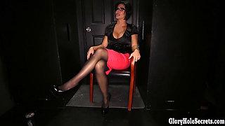 Sexy cock sluts sucking off strangers in gloryhole