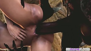 Redhead babe called Triss enjoying deepthroating on big dick