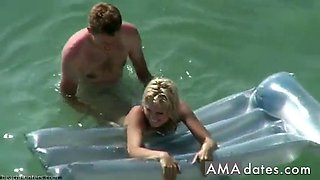 sea side voyeur video with a couple