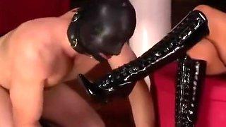 Smoking Mistress use Slave