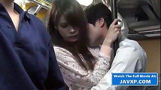 Hot asian teen fucked on the public bus