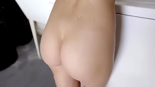 Home Alone Teen Step Sister Fucked by Her Step Brother