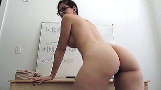 Sexy Teacher masturbates