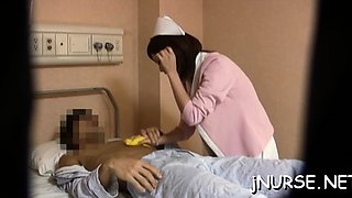 Oriental nurse moans with weenie unfathomable in her cherry