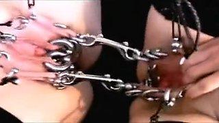 Horny amateur BDSM, Piercing sex clip