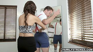 FamilyStrokes - Stepsiblings Fuck After Brother Gets Makeover