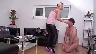 Princess Paris dominate and humiliate slaves