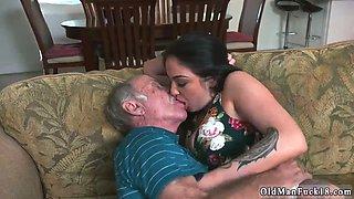Old mom seduce patron partner Frannkies a hasty learner