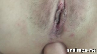 Super horny brunette petite chick ass to mouth fucked