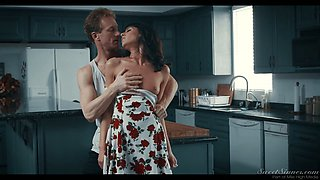 Attractive housewife Lexi Foxy gets her pussy fucked in the kitchen