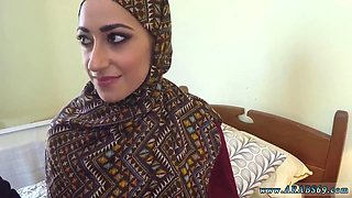 Muslim and arab school girl first time No Money No Problem