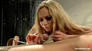 femdom games with a sexy blonde mistress