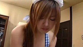 Best Japanese girl Miyu Hoshino in Horny Maid, Dildos/Toys JAV scene