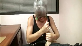 POV blowjob with blonde cougar