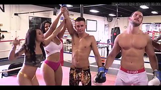 Rose monroe, holly hendrix, mia martinez in workout on cock