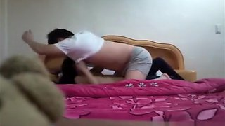 Asian Couple Fucking In Bed