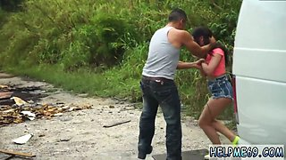 Pussy and ass slave Car problems in the middle of nowhere in Florida with a dead