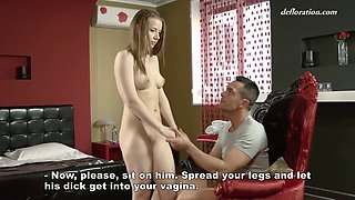 fancy 18 yo russian babe anna lukina presents her virginity to porn actor
