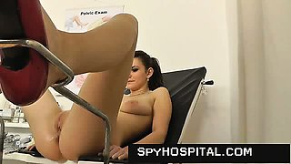 Young female has no clue she is videotaped at gyno doctor