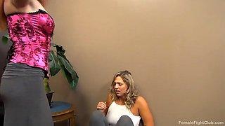 Female scripted wrestling