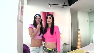 SWALLOWED Aidra Fox and Marley Brinx gagging on fat cock