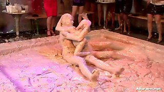 lesbian mud wrestling action - free wam tube clip