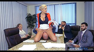 Crazy Blonde Boss in Meeting