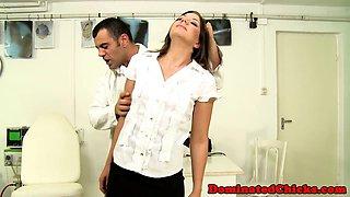 Anally banged sub gets punished hard